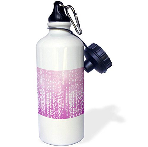 Dreamy Dots (3dRose PS Chic - Picturing Purple White Dreamy Confetti Dots - 21 oz Sports Water Bottle (wb_270964_1))