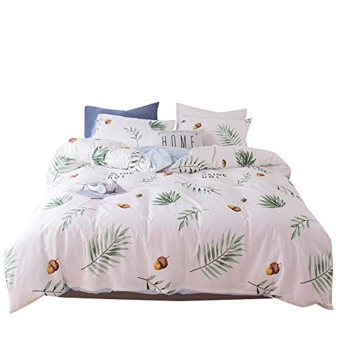 VKStar Teens/Adult Cotton Duvet Cover Sets Queen Fresh Style Duvet Cover + 2 Pillowcases Bedding Set 3 Pieces Gifts Echinacea