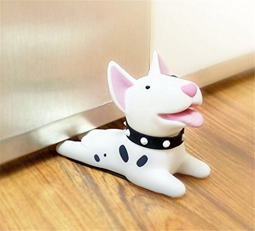 Cute Cat Dog Door Stopper Wedge Non-slip Non-scratching Baby Child Safety doorstop works on all floor surfaces (Black Dog B) by Semikk (Image #4)