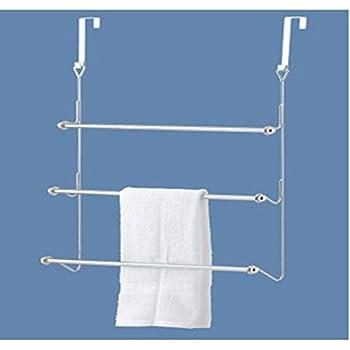 GinsonWare Chromed Over The Door Towel Rack.