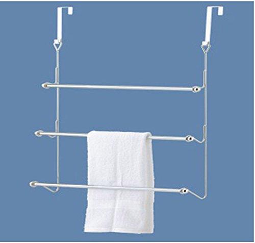 """GinsonWare Chromed Over the Door Towel Rack. 22.5"""" W X 4"""" D"""