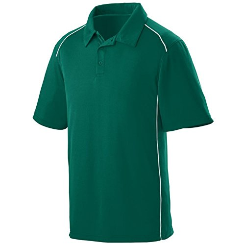 Augusta Sports Winning Streak Sport Shirt, Dark Green/White, XX ()