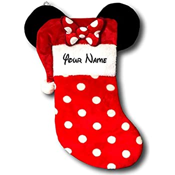 personalized disney minnie mouse christmas stocking with ears 19 inches