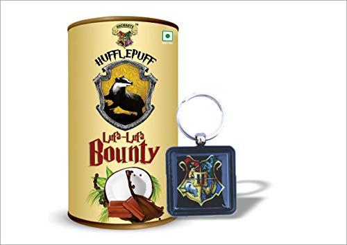 Hogwarts Hufflepuff Lufa Lufa Bounty Flavour Chocolates | Chocolate | Chocolate Gift | Chocolates with Hogwarts Printed Keychain ( 100 gm )