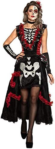 DISBACANAL Disfraz Catrina Día de los Muertos Mujer - Único, M-L ...