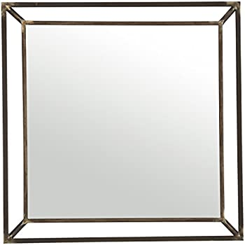 Rivet Beveled Metal Mirror, 24