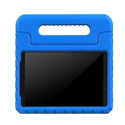 BMOUO Samsung Galaxy Tab E 8.0 inch Kids Case - EVA ShockProof Case Light Weight Kids Case Super Protection Cover Handle Stand Case for Kids Children for Samsung Galaxy TabE 8-inch Tablet - Blue (Galaxy Covers Samsung Tab Light)
