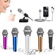 Mini Microphone Tiny Microphone Phone Microphone,Omnidirectional Mic forVoiceRecording Chatting and Singing on