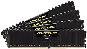 Corsair Vengeance LPX 64GB (4x16GB) DDR4 Dram 3200MHz C16 Memory KitCMK64GX4M4B3200C16, Black