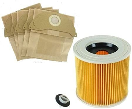 FILTER /& BAGS for KARCHER WD2 SERIES Wet /& Dry Vacuum Cleaner hoover