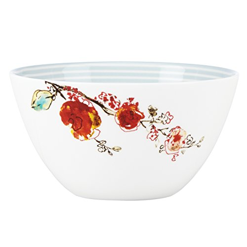 Lenox Chirp Stripe Tall Bowl, White