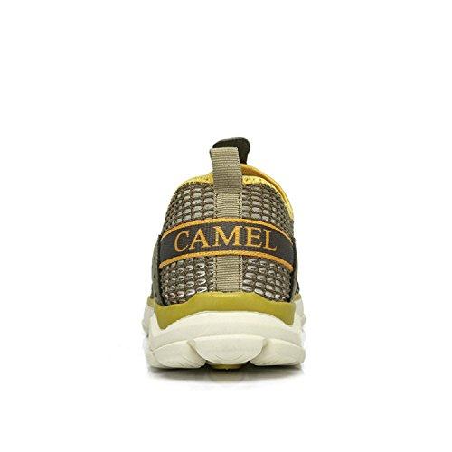 Camel Hommes Léger Respirant À Séchage Rapide Maille Slip-on Maille Chaussures, Marche, Plage Aqua, En Plein Air, Exercice, Baskets Athlétiques Kaki