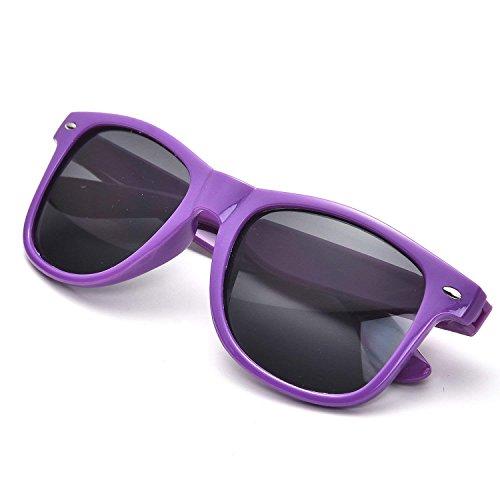 10 Cuerno Años Clásico Unisexo Púrpura Pieza De Sol 80 10 Rimmed Retro Multicolor FSMILING Gafas Pieza 0qXBav
