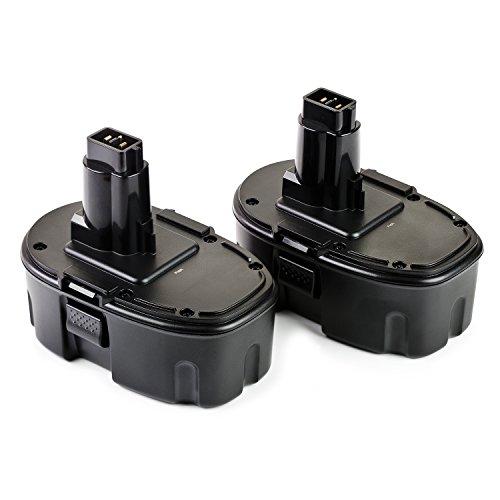 ExpertPower 2 Pack 18v 1500mAh NiCd Battery for Dewalt DC9096 DW9095 DW9096 DW9098 DE9039 DE9095 DE9096 DE9098 DC9099 DC9098