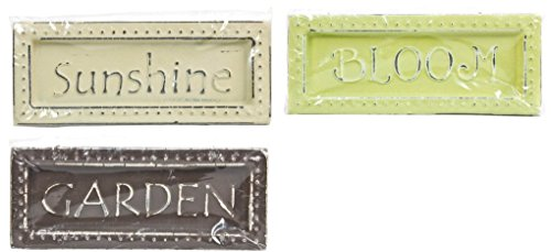 Die Cuts with a View 3 Pc. Embossed Dot Magnet Set - Sunshine (Cream), Bloom (Green), Garden (Brown)