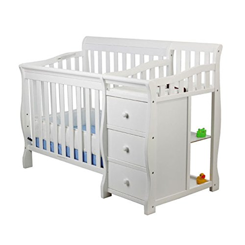 Dream On Me Jayden 4-in-1 Mini Convertible Crib And Changer ()