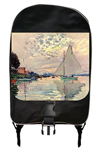 Petite Arch Marker (Monet's Sailboats in Le Petit Genneveliers Painting Print Design Backpack and Pencil Case Set)