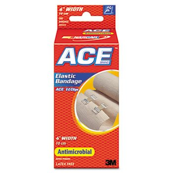 ACE Elastic Bandage with E-Z Clips, 4