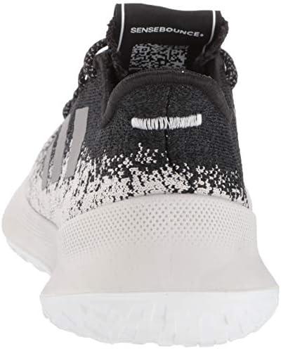 adidas Men's Sensebounce + Running Shoe, Black/Grey/White, 7 M US