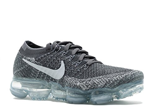 Nike Women's Air VaporMax Flyknit Running Shoe DARK GREY/BLACK-WOLF GREY-PURE PLATINUM 9.5