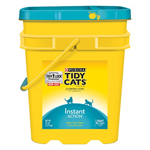 Tidy Cats Cat Litter, Clumping, Instant Action, 35-Pound Pail, Pack of 1 (Tidy Cat 35 Lb Cat Litter compare prices)