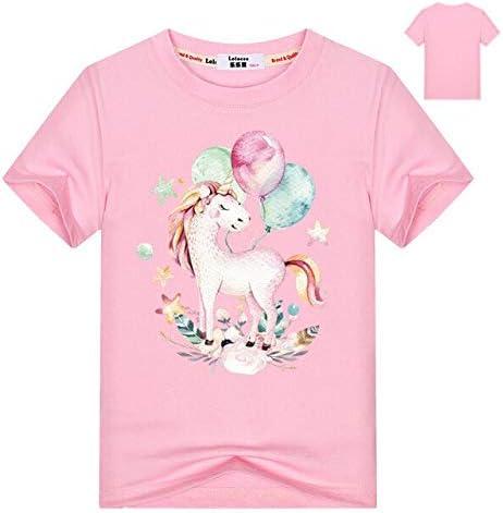 سترات بقلنسوة وبلوزات - سويت شيرت بقلنسوة مطبوع عليه حصان حيوانات للأطفال والأولاد لفصل الخريف وقمم بقلنسوة ملابس الطلاب مطبوع عليها عبارة Love Horse Tracksuit (وردي 8T)