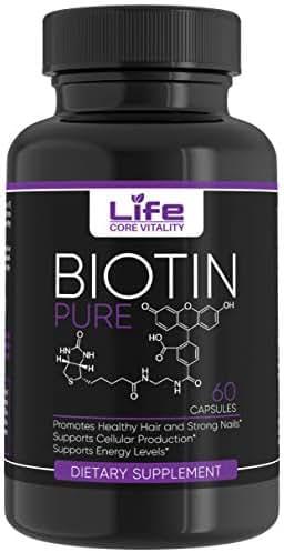 Biotin B Complex Vitamin Capsules - Vitamin B7 Formula for Hair Skin and Nails - 60 Capsules