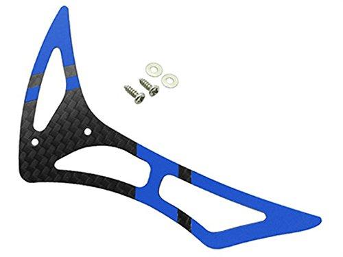 3k Carbon Fiber Tail Blade - Rakon CNC 3K Pure Carbon Fiber Tail Fin Set (Black-Blue) - Blade 230S