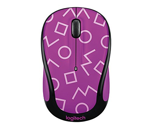 Logitech Party Collection M325c Wireless Optical Mouse, Geo Purple