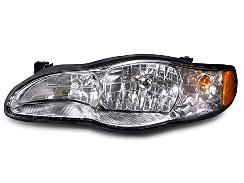 Headlight Monte Headlamp Carlo Chevrolet (Headlights Depot Replacement for Chevrolet Chevy Lumina/Monte Carlo Headlight OE Style Replacement Headlamp Driver Side New)