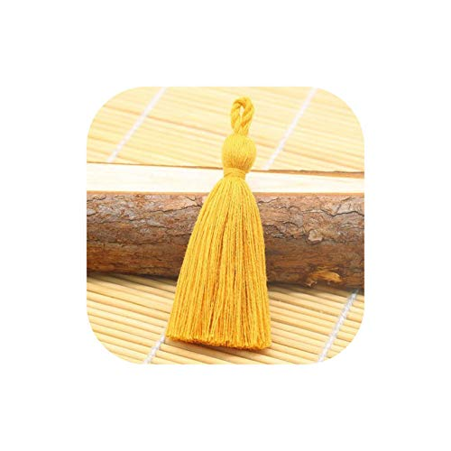 Tassel Hanging Rope Fringe Tassel for Sewing Curtains Garment Home Decoration Jewelry Craft Accessories,Orange Yellow 10Pcs
