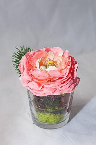 centre de table champêtre pour noël , composition florale, déco de table  avec des fleurs