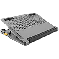 Targus Chill Mat Plus with 4-Port Hub and Two High Speed Fans, 14.25 x 10.5 x 1 Inches,Grey (AWE84US)