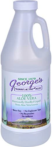 Georges Aloe Vera – Bitter Free – No preservatives – 100 Percent Aloe Vera – 32 fl oz Pack of 4