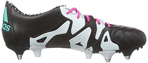 adidas X 15.1 SG Leather, Scarpe da Calcio Uomo (Varios Colores (Noir / Rosa / Blanc (Negbas / Menimp / Ftwbla)))