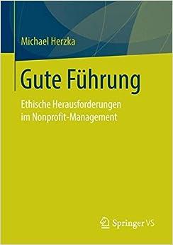 Book Gute Führung: Ethische Herausforderungen im Nonprofit-Management