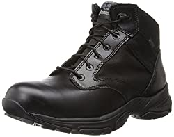 Timberland PRO Men's 5 Inch Valor Soft Toe Waterproof Duty Boot,Black Smooth With Textile,7 W US