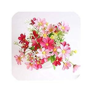 7 Branch 28 Heads Cute Silk Daisy Artificial Decorative Flower Wedding Flower Bouquet Home Table Decoration,5 30