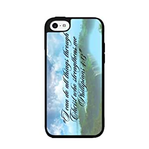 Phillipians 4:13 - Phone Case Back Cover (iPhone 6 plus 5.5 D 2- piece Dual Layer) includes fashion case Cloth and Warranty Label