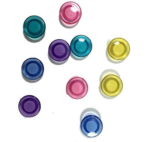 SHMGG - Juego de 10 piezas de plástico magnético para uñas, cierre magnético, color blanco transparente