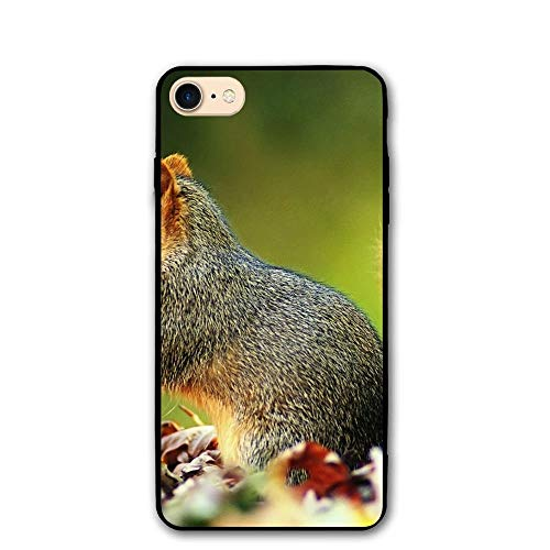 - Playful Squirrel Classic Shell Full Protective Back Case Cover for Apple iPhone 8