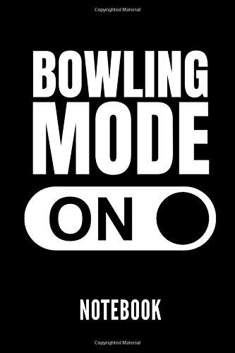 BOWLING MODE ON NOTEBOOK: Geschenkidee für Bowling Spieler | Notizbuch mit 110 linierten Seiten | Format 6x9 DIN A5 | Soft cover matt | Klick auf den Autorennamen für mehr Designs zum Thema por Bowling Publishing
