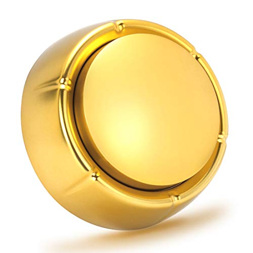 (Cover Easy Button Recordable Sound Talking Button Custom Office Desk Gag Gift 30 Seconds 2 AAA Batteries Included - Newest Color- Gold)