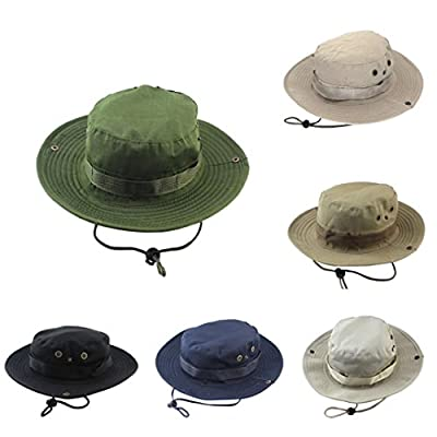 Yeefant Pure Color Adjustable Cap Camo Fishing Mountaineering Camouflage Hats Mens Fisherman Mesh Hat Basin,Hat Circumference 23 Inch, Hat Width 2.6 Inch