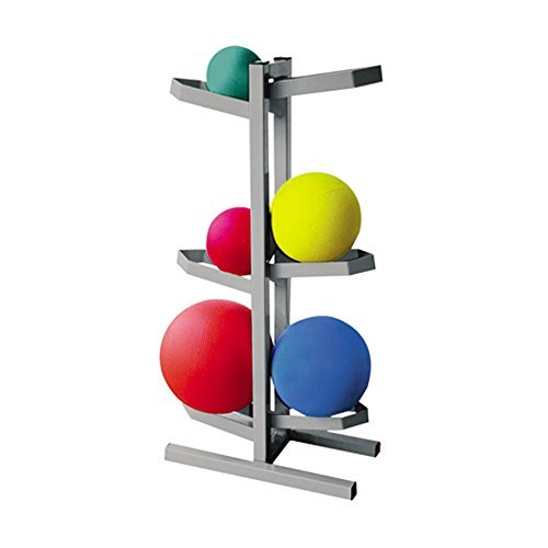 CanDo Plyometric Ball Rack - Two-Sided - Holds 6 Balls - 20''W x 12''D x 32''H