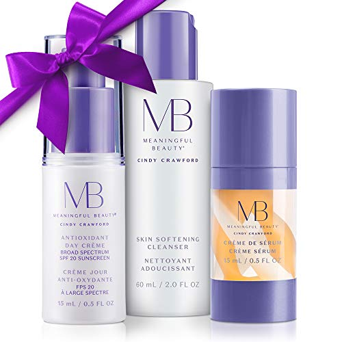 (Meaningful Beauty – Anti-Aging Daily Skincare System – for Hydration, Firmness, and Radiant Glow – 3 Piece/Travel Size Kit – MT.2065)