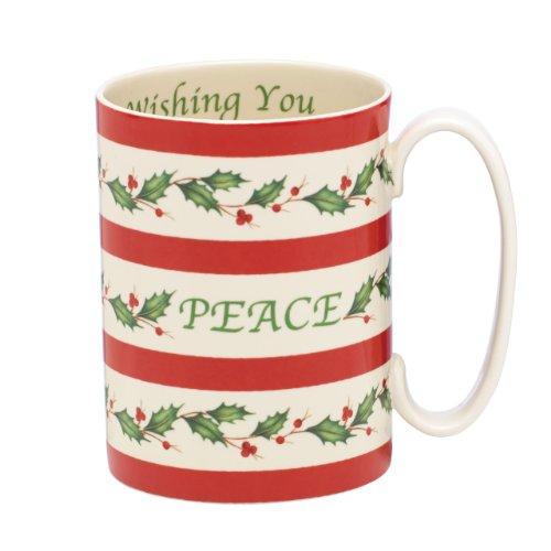 lenox Holiday Mug, Wish You Peace (Lenox Holiday Coffee)