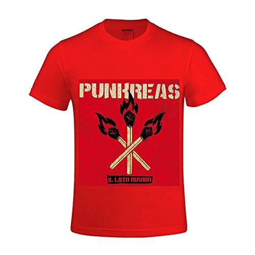 Il Lato Ruvido Punkreas Men Crew Neck T Shirt Red