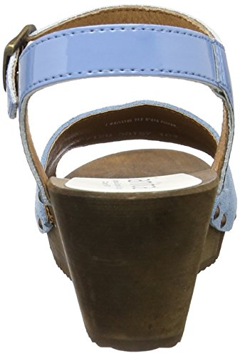 Blue Wedge Sandal Edel Sanita Femme Bride Flex Cheville Blau 7xxOUP4