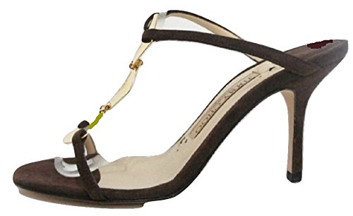 Jimmy Choo, Sandali donna Marrone Dark Brown 35.5 (3.5 UK)